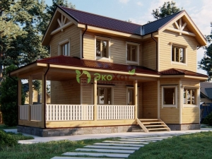 Двухэтажный деревянный дом из Костромы