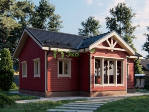 Одноэтажный деревянный дом из Костромы