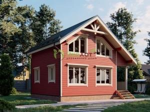 Полутораэтажный деревянный дом из Костромы